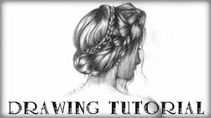 drawing tutorial pretty plait hairstyle youtube