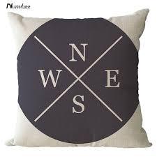 design kissenbez ge vintage kompass design kissenbezüge s n e w brief drucken arrow