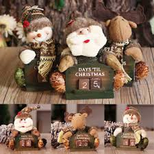 countdown calendar doll ornament wood desktop decor gift