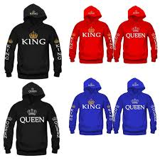 aliexpress com buy women men hoodies king queen printed