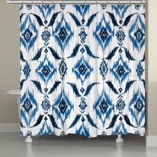 indigo ikat shower curtain u2013 laural home