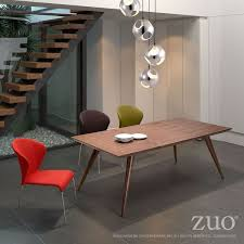stockholm natural finish dining table zuo modern stockholm dining table in walnut finish 100000 luxe