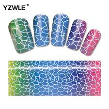 yzwle 1 pack diy nail art transfer foil decal beauty craft