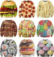 gummy clothes sweater sweater food fast food junk food sweatshirt