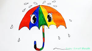 umbrella with gumballs coloring page learn to color for kids