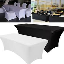 spandex table cover 10pcs spandex stretch tablecloth folding table cover rectangular