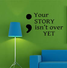 semicolon your story vinyl wall lettering decals zoom