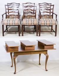 lot 73 mahogany dining room set by century furniture co