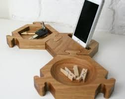 Modern Desk Tidy Wood Desk Organiser Oak Desk Tidy Office Desk