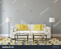 modern livingroom interior couch near stock illustration