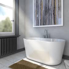 a e bath and shower retro pure acrylic 56 inch double ended a e bath and shower retro pure acrylic 56 inch double ended freestanding tub package