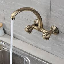 wall faucets kitchen wall mounted kitchen faucet silver natures design wall