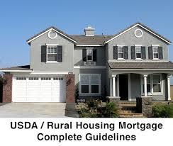 usda rual development usda rural housing mortgage complete guidelines florida nsh
