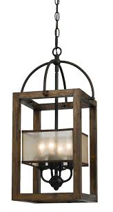 Iron And Wood Chandelier Iron Wood Sheer Shade Chandelier 11 Fx 3536 4
