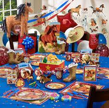 Horse Birthday Decorations Aqua Blue Turquoise Crepe Paper Horse Birthday Horse Birthday