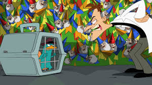 Phineas And Ferb Backyard Beach Game Image Perry Trapped In Pet Carrier Cage Jpg Phineas And Ferb