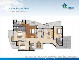 Gurdwara Floor Plan by 3 Bedroom Apartment Flat For Sale In Fortune Victoria Heights