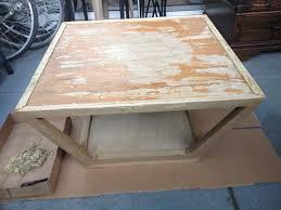how to refinish veneer table veneer rephurbished