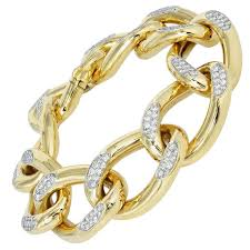 cartier jewelry bracelet images Yellow gold diamond flexible open link 1960 39 s cartier bracelet jpg