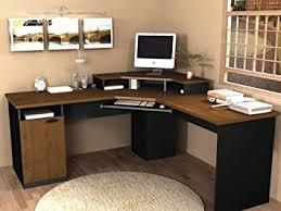Granite Computer Desk Corner Work Station In Sand Granite Charcoal