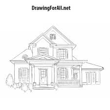 house to draw how to draw a house for beginners drawingforall net