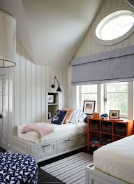shared nightstand kids room storage ideas kidspace interiors share boys room nautical theme shared nightstand bookcase