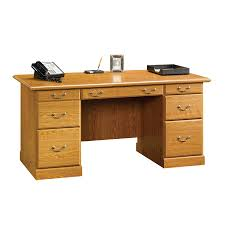 Orchard Hills Computer Desk With Hutch by Shop Sauder Orchard Hills Traditional Executive Desk At Lowes Com
