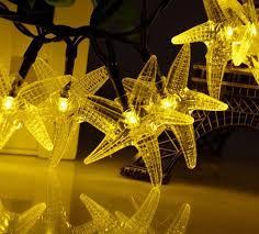 magic solar powered 30 heads 6m outdoor starfish sea star shape