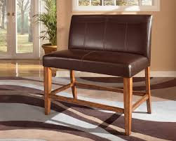 leather dual seat counter bench for the home pinterest
