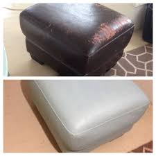 Faux Leather Paint - captivating faux leather ottoman annie sloan chalk paint on a