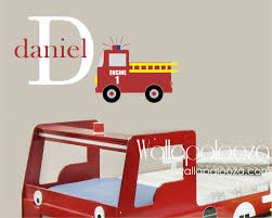 28 fire engine wall stickers firetruck printed wall decal fire engine wall stickers firetruck wall decal boys room wall decal boys name wall