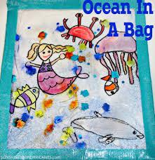 ocean in a bag kid u0027s craft