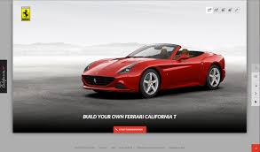 Ferrari California Convertible Gt - customize the new ferrari california t online luxuo