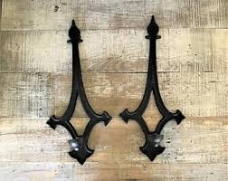Wall Mounted Candle Sconce Gothic Sconces Etsy