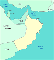 middle east map gulf of oman map of oman