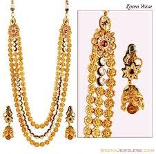 gold rani haar sets exclusive 22k bridal necklace set ajns59489 us 8 175 22k