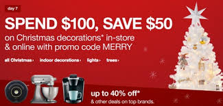 target coupon code black friday target spend 100 on christmas decor lights trees save 50
