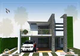 Row House Front Elevation - modern home design 3120 sq ft home appliance