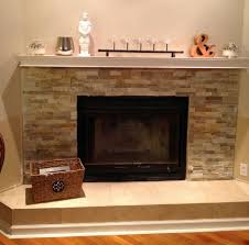 awesome stacked stone fireplace with tv pictures design ideas