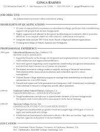 Senior Administrative Assistant Resume Sample by University Resume Samples Haadyaooverbayresort Com