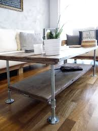 Pipe Desk Extra Thick Pipe Reclaimed Wood Desk Industrial Desk by Diy Coffee Table With Wood And Galvanized Steel Pipes Rustic