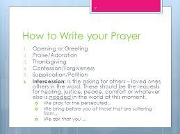 prayer ppt