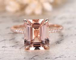 gold and morganite engagement rings morganite ring etsy