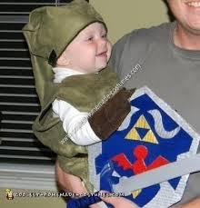 Homemade Baby Halloween Costume Coolest Homemade Baby Link Halloween Costume Idea