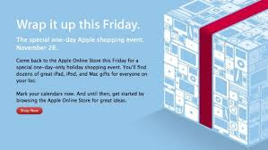apple starts teasing its black friday sale