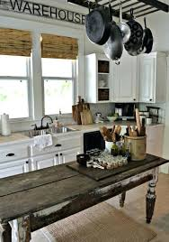 table island for kitchen farmhouse kitchen island an antique weathered table could become a