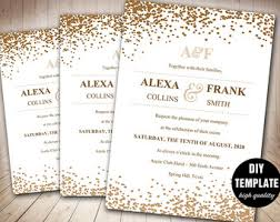 Wedding Template Invitation Diy Wedding Templates By Paperfull On Etsy