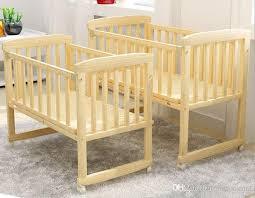 Bed Crib Baby Cot Cot Small Wooden Crib Cradle Bed Nets To Become Practical