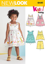 new look 6441 toddlers easy dresses top and cropped
