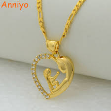 gold mother pendant necklace images Buy anniyo i love my mother pendant necklace jpg